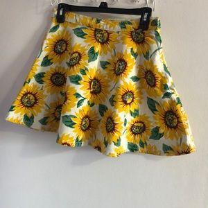 Sunflower Circle skirt